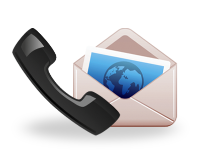 Phone and email icon